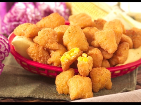CHEESE CORN NUGGETS WITH TWO DIPS RECIPE!!!