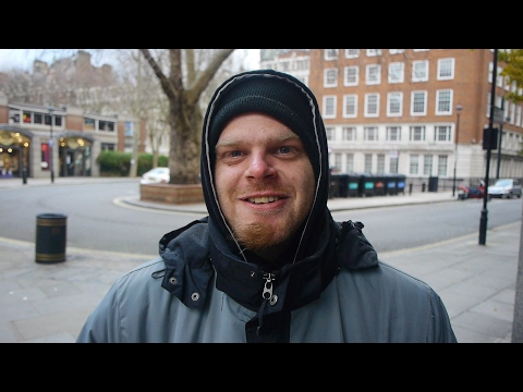 Carl is homeless in London. Because he is a U.S. citizen he cannot get benefits for help.