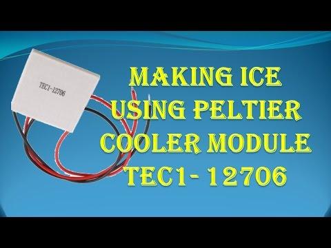 Making ICE By Peltier Cooler Module TEC1 - 12706