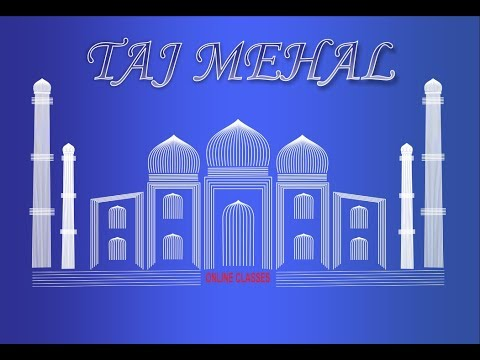 ART OF TAJ MEHAL IN COREL DRAW BY ONLINE CLASSES