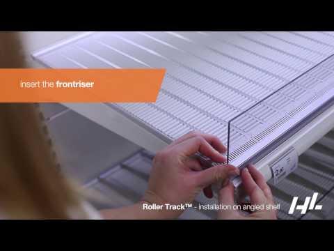 RollerTrack™ - Installation on angled shelf