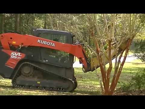 A tree/bush's worst nightmare? Clearing land with a forestry mulcher. Kubota 100hp. Brush cutter.