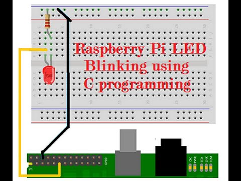 Raspberry Pi led blinking using  c programming and wiringpi
