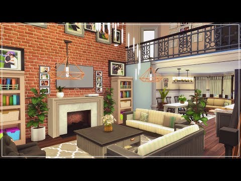 The Sims 4 | House Build | Suburban Loft Family Mansion + CC Links