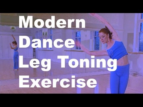 Leg toning exercise with Ballet moves from Modern Dance Workout