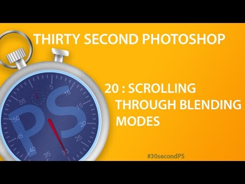 Scroll Through Blending Modes in Photoshop