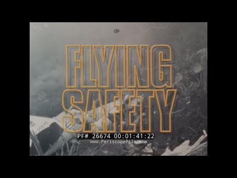 AIR FORCE NOW   FLYING SAFETY  AIRCRAFT EJECTION, PLANE CRASH & ACCIDENTS NEWS FILM 26674