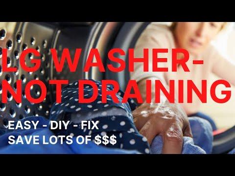 🌎 LG Washer Won't Drain -- OE Error — DIY and SAVE $$