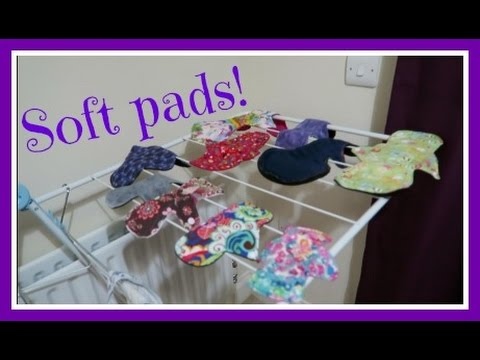 How to wash and keep your cloth pads soft