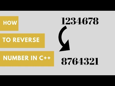 How to Reverse a Number in c++ hindi urdu