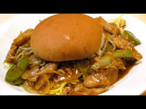 CRAZY.....But DELICIOUS....Fall River Chow Mein Sandwich!
