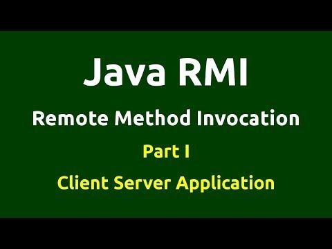 Java RMI - Part 1 - Console - Client Server Application
