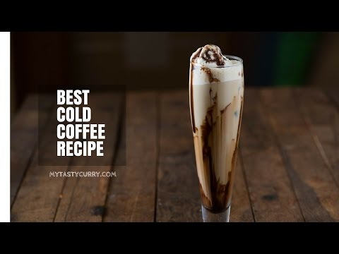 Cold Coffee Recipe - Cafe Style  Cold coffee at Home - Iced Coffee Recipe