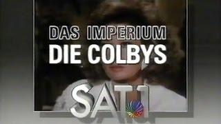 """Sat.1 am 18.11.1987 - Vorschau und Anmoderation """"Die Colbys"""" - Sat.1 Blick Nachrichten"""