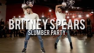 """YANIS MARSHALL & KEVIN VIVES HEELS CHOREOGRAPHY """"SLUMBER PARTY"""" BRITNEY SPEARS FEAT TINASHE."""
