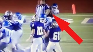 Football Players Tackle Referee On Purpose Football Phenom Catches Hi
