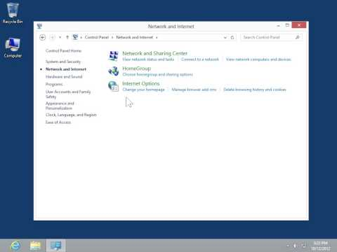 Windows 8.0 Professional - Configure LAN Settings