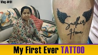 My first tattoo ever   Emotional mom's reaction   vlog 1   Nandy tens
