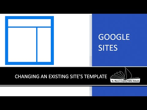Google Sites - Changing an existing site's template