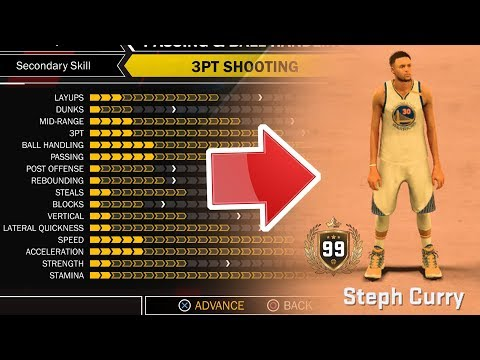 NBA 2K18 BEST PLAYER BUILD! OVER POWERED SHOOTING and DRIBBLING! STEPH CURRY BUILD