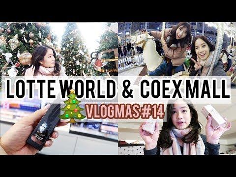 2 BEST Shopping Mall in SEOUL! | Lotte World | Vlogmas #14