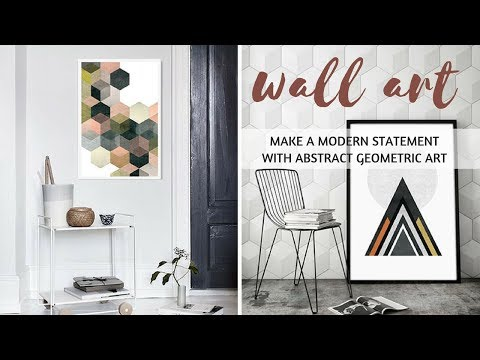 50+ Wall Art Ideas – Make A Modern Statement With Abstract Geometric Art