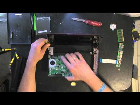 LENOVO IdeaPad S10-3 netbook, laptop take apart video, disassemble, how to open, video disassembly