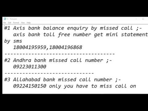 How to Check your bank balance by miss call with registered mobile number