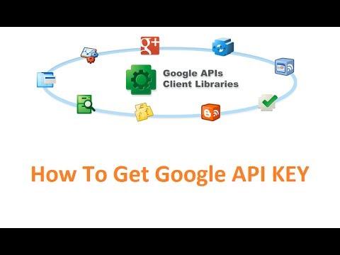 how to get Google API Key