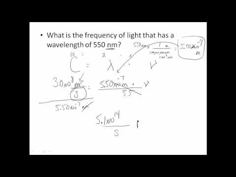 wavelength frequency problems
