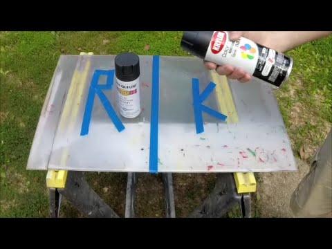 Paint testing for AR15 Polymer Lower Flat Black Krylon vs Rustoleum part 1