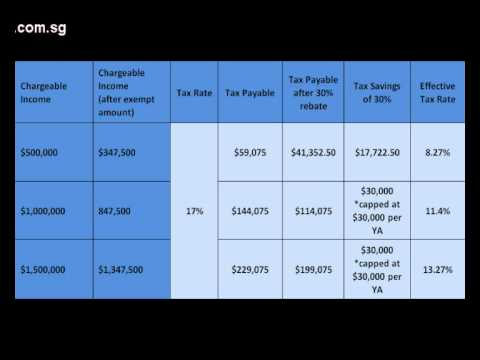 5/5 Singapore Budget 2013 - Income Tax Rebate for Corporate and Resident Individual