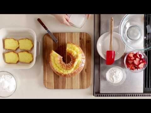 Sausage Mushroom Alfredo Pasta with Strawberry Lemon Supreme