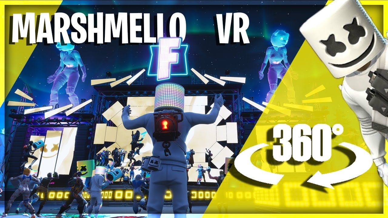 🕶 Fortnite's Marshmello Concert in VR - A 360° Virtual Reality Experience
