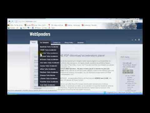 webspeeders.com - great free accelerators for your p2p clients