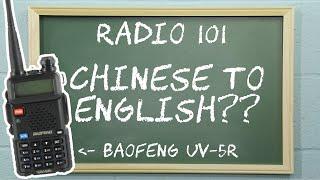 How To Set The Baofeng Uv-5r To English Language | Radio 101