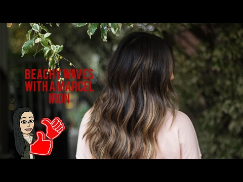 HOW TO: BEACHY WAVES WITH A MARCEL IRON - Two hands needed!