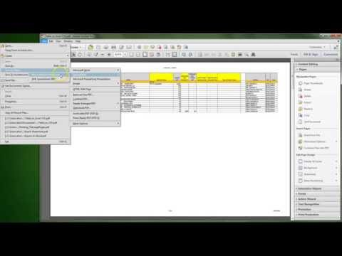 Adobe Acrobat XI: Export Table to Excel or CSV