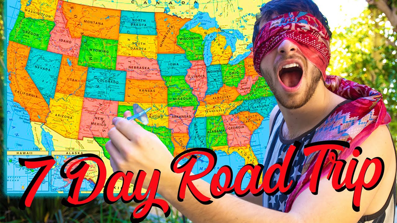 BLINDFOLDED DART THROW OF DESTINY: 7 Day Road Trip of Lifetime