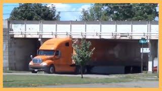 Trucking Fails - Bad Truck Driving Skills Compilation 2019