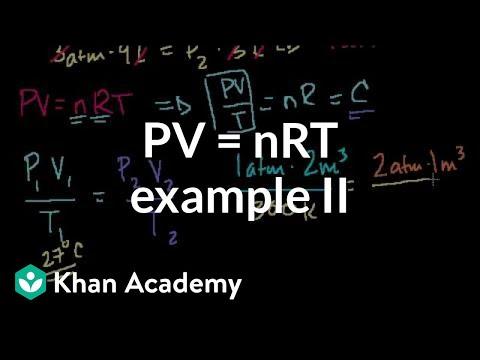 Ideal gas equation example 2 | Chemistry | Khan Academy