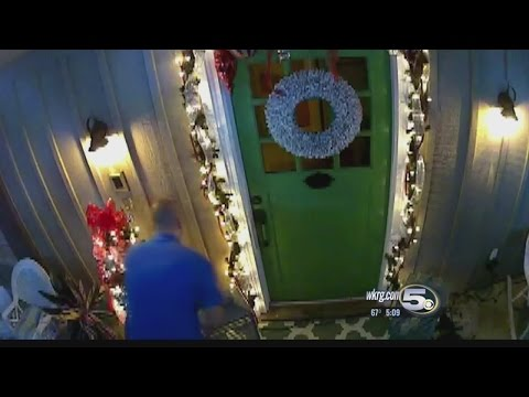 'Grinch' Steals Christmas Decorations from Mobile Family