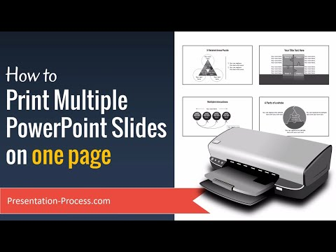 How to Print Multiple PowerPoint Slides on one page