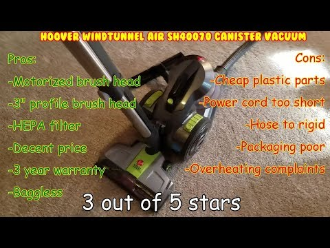 Hoover WindTunnel Air SH40070 Unbox, Assemble, test, Review. bagless