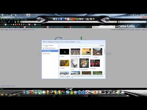 How to change google page background