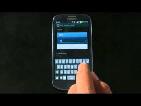 How to setup the Internet settings for Samsung Galaxy S3 which running Jelly Bean OS (English)