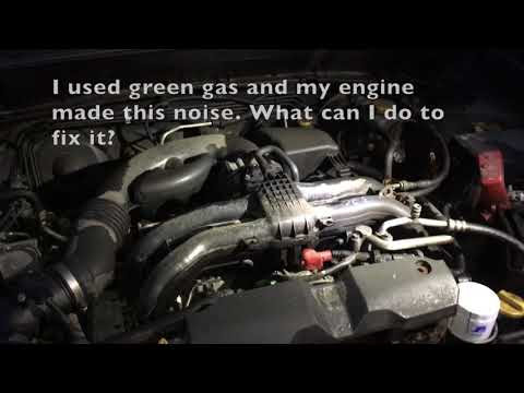Green gas in my car sounds.... weird, knocks