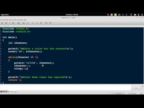 CountDown Timer using a While loop in C