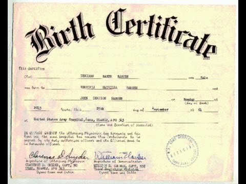 BIRTH CERTIFICATE WHO OWNS TITLE