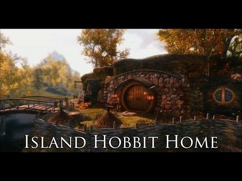 TES V - Skyrim Mods: Island Hobbit Home